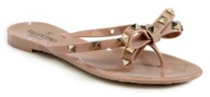 Valentino Rockstud Jelly Sandals $295 thestylecure.com