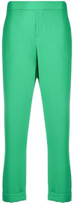 P.A.R.O.S.H. cropped mid-rise trousers