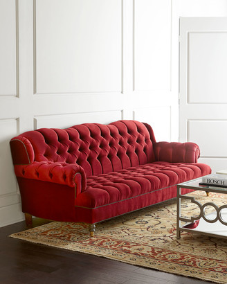 At Horchow · Haute House Mr. Smith Cranberry Sofa