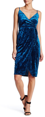 Socialite Velvet Surplice Midi Dress $58 thestylecure.com