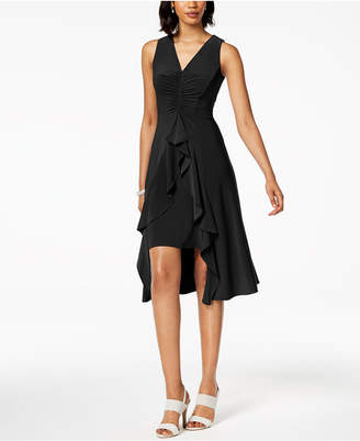 Taylor Ruched & Ruffled Flyaway Dress