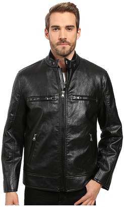 Andrew Marc Anson Distressed Faux Leather 3-in-1 Jacket w/ Removable Vest Men's Coat