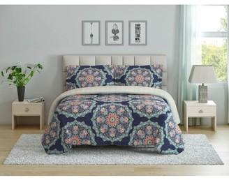 Peach & Oak Tribal Medallion 2 Piece Microfiber Comforter Set - Twin