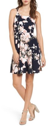 Women's Soprano Floral Print Skater Dress $45 thestylecure.com