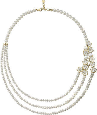 Shaun Leane Silver and gold Cherry Blossom diamond necklace