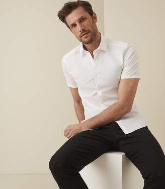 Reiss REDMAYNE SHORT SLEEVED SHIRT White