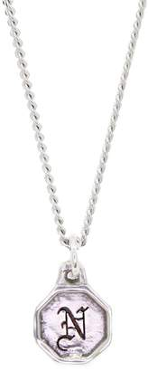 Lee Renee Mini Initial Necklace Silver