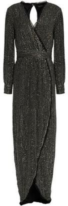 Rachel Zoe Wrap-Effect Sequined Silk Gown