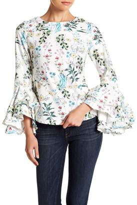Gracia Floral Layered Sleeve Top
