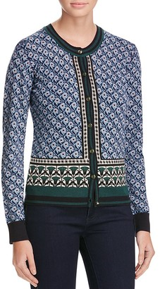 Tory Burch Amble Floral Wool Cardigan - 100% Exclusive $295 thestylecure.com