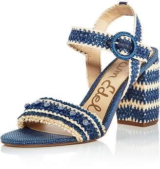 Women's Olisa Raffia Block Heel Ankle Strap Sandals