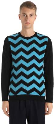 Chevron Wool Knit Sweater