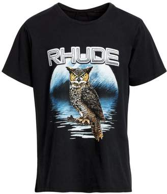 Rhude Oversized Boxy-Fit Owl Graphic Tee