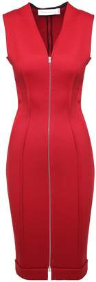 Victoria Beckham Zip-front Stretch-jersey Midi Dress