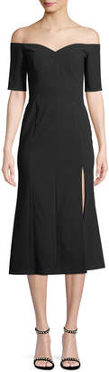 Jill Stuart Marisol Off-the-Shoulder Midi Dress