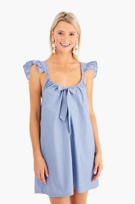 Riller & Fount Riller Fount Evelyn Tie-Front Dress