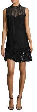 Elie Tahari Mirage Feathered Dress