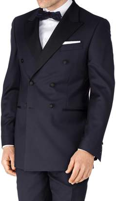 Navy Slim Fit Double Breasted Dinner Suit Wool Jacket Size 36 by Charles Tyrwhitt