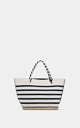 Altuzarra Women's Espadrille Small Suede & Leather Tote Bag - White, Navy