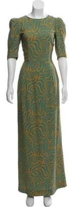 Dries Van Noten Floral Maxi Dress Yellow Floral Maxi Dress