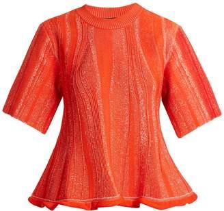 Proenza Schouler Peplum-hem textured-knit top