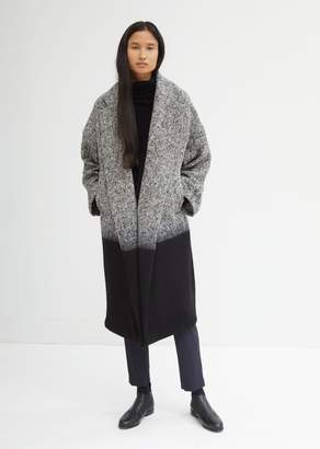 Dusan Dušan Tweed Tie Dye Oversized Coat