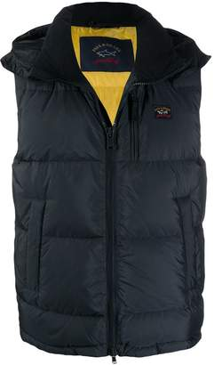 Paul & Shark hodded feather down gilet