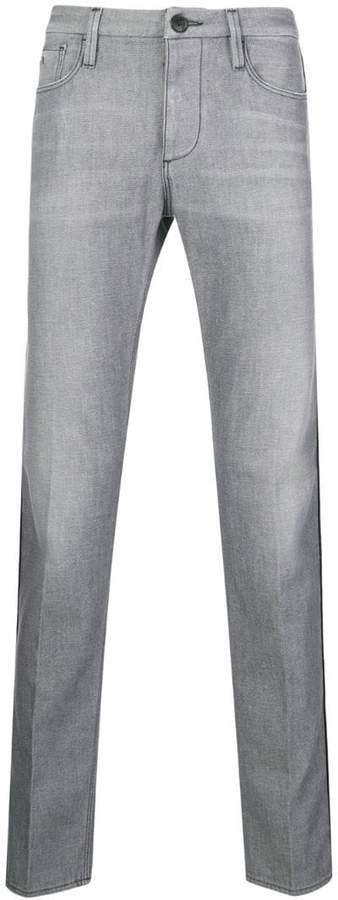 Emporio Armani piped straight leg jeans