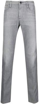 Emporio Armani piped straight leg jeans