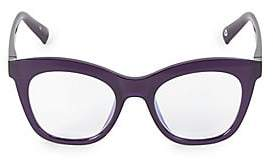 Cat Eye The Book Club The Book Club Women's Harlots Bed 51MM Blue Light Filter Optical Glasses