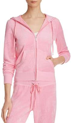 Juicy Couture Black Label Womens Robertson Fitness & Yoga Workout Hoodie S