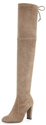 Stuart Weitzman Highland Suede Over-The-Knee Boot, Praline $798 thestylecure.com