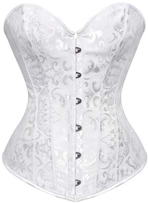 b57c700230 Seynnaod Vintage Corsets and Bustiers Plus Size Flower Print Bridal Bustier  Corset S