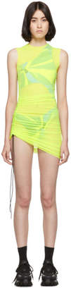 Louisa Ballou SSENSE Exclusive Yellow SL Mesh Mini Dress