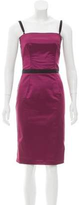 Dolce & Gabbana Satin Knee-Length Dress