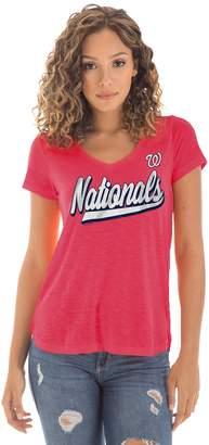 New Era Women's Washington Nationals Slubbed Tee