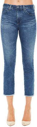 AG Jeans Skinny Frayed-Ankle Jeans