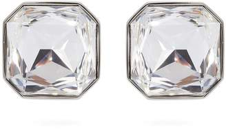 Saint Laurent Smoking crystal-embellished clip-on earrings