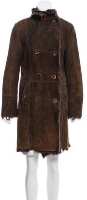Henry Beguelin Double-Breasted Shearling Coat