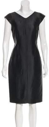 Valentino Cap Sleeve Knee-Length Dress
