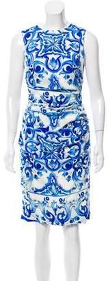 Dolce & Gabbana Printed Ruched Dress
