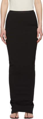Rick Owens Black Long Soft Pillar Skirt