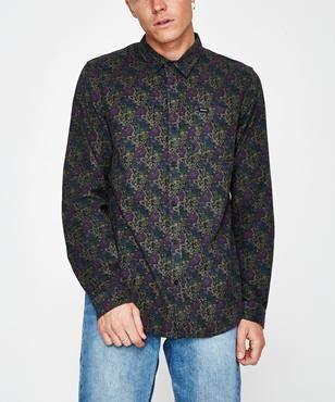 RVCA Le Fleur 21 Wale Cord Long Sleeve Shirt