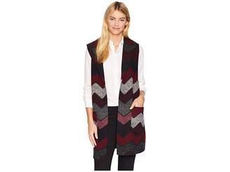 Tribal Shawl Collar Vest with Pockets
