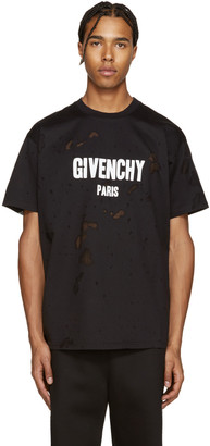 Givenchy Black Destroyed T-Shirt $760 thestylecure.com