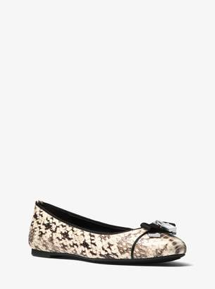MICHAEL Michael Kors Alice Snake-Embossed Leather Ballet Flat