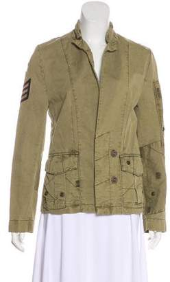 Zadig & Voltaire Distressed Button-Up Jacket