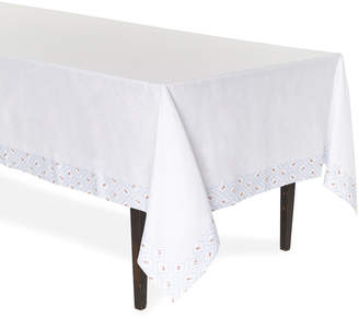 Emilia Wickstead Blue Diamond Printed Linen Tablecloth