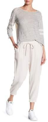 Susina Drawstring Linen Blend Joggers (Regular & Petite)