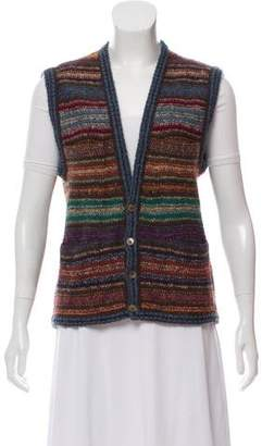 Missoni Knit Button-Up Vest